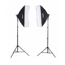 Kit De Iluminacion Estudio Fotografico Studiopro Sofbox