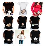 Playera Personalizada Para Mamá Embarazada Bebe Proxima Mom