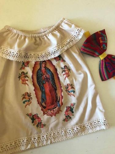 Vestidos Virgen De Guadalupe Campesino Con Maximoño Incluido