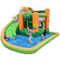Juego Inflable Brincolín Jardín Eventos Fiestas Con Agua
