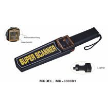 Detector De Metales De Mano Con Alarma De Audio Y Vibratoria