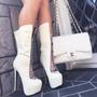Botas  Altas Con Plataforma Size 28  Mex,11 U Hermosos!