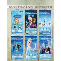 Invitación Tipo Ticketmaster Frozen