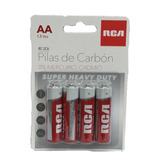 Pilas De Carbon Aa 4 Piezas Rca