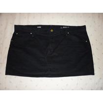 Minifalda Gap Stretch Tipo Pana Color Negro Extra Grande 20