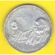 10 Marcos 1992 Plata Alemania Kathe Kollwitz Pintora - Hm4