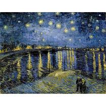 Lienzo Tela Noche Estrellada Sobre El Ródano V Van Gogh 1888