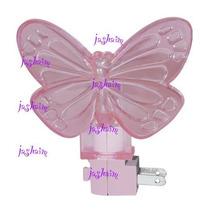 Lampara Nocturna Mariposa Luz De Noche Cuida Sueños