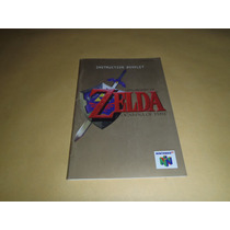 Manual The Legend Of Zelda Ocarina Of Time Excelente Estado