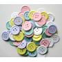 120 Botones Papel Invitaciones Scrapbook Bautizo Baby Shower