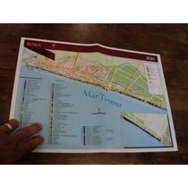 Mapa De Ostia En Roma 2015 Italia Italiano Souvenir Recuerdo
