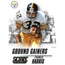 2015 Score Ground Gainers Die Cut Franco Harris Steelers
