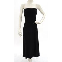 Vestido Strapless/ Falda Larga Negra