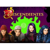 Kit Imprimible Descendientes Disney Tarjetas Cumples Y Mas