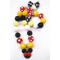 Collar Niñas Princesas Pulceras Banditas Mickey