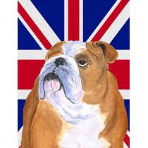 Bulldog Inglés Con Inglés Union Jack Británica Bandera De