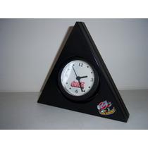 Coca-cola Reloj Triangular Coleccionable De Mesa Funcionando