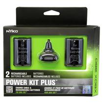 Carga Y Juega 2 Baterias Cable Original Nyko Xbox 360 25hrs