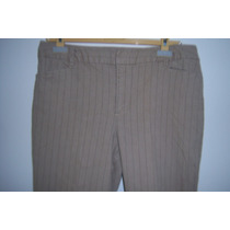Pantalón Para Dama St. John´s Bay Strech T- 14 Beige A Rayas