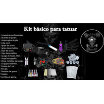 Kit Para Tatuar Maquina Bobinas Fuente Pedal Clip Cord Grips