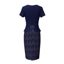 f5fcf07f3 Vestido Para Fiesta Trabajo Iglesia Negocios Elegante Azul M en ...