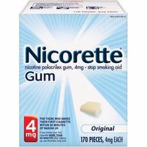 Chicles De Nicotina Nicorette 4mg (170 Piezas) Deja De Fumar