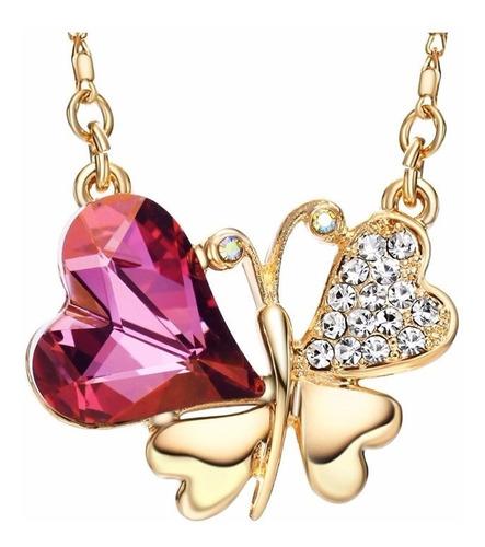 23720b795c41 Swarovski Elements Oferta Collar Dije Mariposa Corazon, Compra y Venta