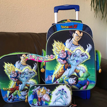 Dragon Ball Z Kit Mochila 3d Carro Lonchera Lapicera