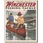 Winchester Pesca Vintage Retro Letrero Cartel Poster Anunci