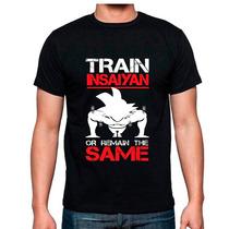 Playera Dragonball Goku Train Insaiyan Gym