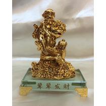 Figura Mono Feng Shui Con Base De Cristal