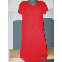Vestido Rojo De Gala Talla 2 X Extragrande