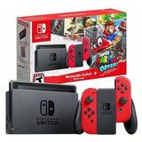 Nintendo Switch Edición Mario Odyssey + 5 Juegos