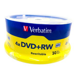 Dvd+rw Verbatim4.7 Gb  Verbatim 4x (30 Discos) Leer Descrip