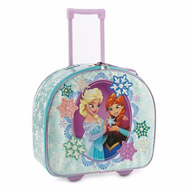 Maleta Mochila Frozen Disney Store Llantas 2015 Brillante