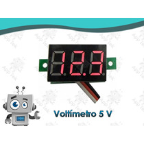 Voltímetro Mini 5 V Letras Rojas Digital H27v 3.5 ~ 30 V