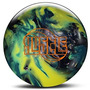 Roto Grip Hustle Bowling Ball, Silver/aqua/yellow, 14 Lb