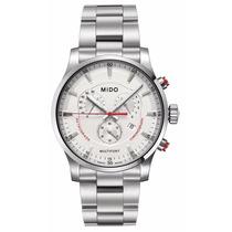 Reloj Mido Multifort Cronografo Acero Blanco M0054171103100