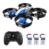 Mini Drone Hs210 Holy Stone Rc Nano 3 Baterías De Regalo Pa