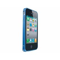 Bumper Love Mei De Aluminio Azul Para Iphone 4g 4s