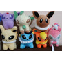 9 Peluche Pokemon Flareon, Vaporeon Jolteon Eve Sylveon