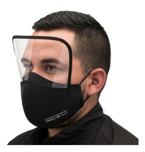 Cubreboca Careta Protector Facial Todo En Uno Negro