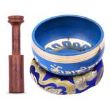 Ammoon - Cuenco Tibetano (10,5 Cm), Color Azul