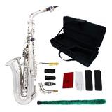 Saxofón Alto Profesional Silver + Kit De Cuidado + Estuche