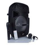 Bocina Amplificada 8 Pulgadas Rexx Bluetooth Micrófono Usb Leds Envío Gratuito