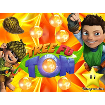 Kit Imprimible Tree Fu Tom, Invitaciones Y Cajitas