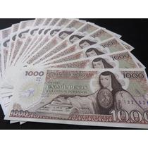 Billete 1000 Pesos Sor Juana De Asbaje Con Tintero Nuevo