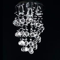 Espiral Candiles De Cristal Cortado Iluminación Bonanza