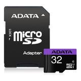 Adata Memoria Micro Sd Hc 32gb Uhs-i Clase 10 Celulares Alta Transferencia Mayoreo Barata 100% Original Sellada Nueva