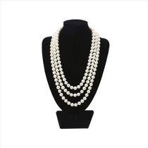 Hermoso Collar De Perlas Artificiales Con 150cm De Longitud